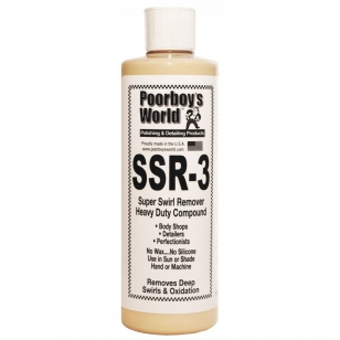 Poorboys World SSR 3 Super Swirl Remover - Heavy Duty Compound
