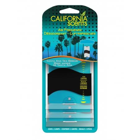 California Paper Air Freshener - Santa Ana Sea Breeze 3 pack