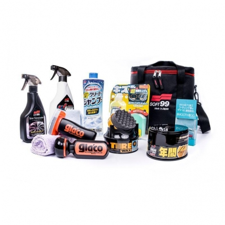 Soft99 Premium Kit Dark & Black + Product Bag