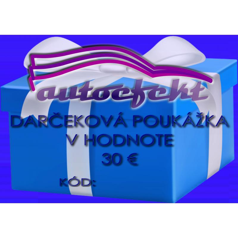Darčeková poukážka 30 €