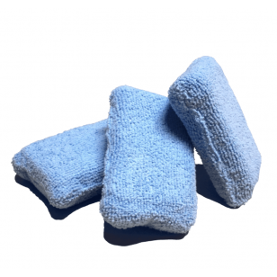 The Rag Company Microfiber Terry Detailing Sponge Applicator Blue 6 x 11 cm
