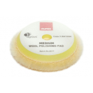 Rupes Yellow Wool Polishing Pad Medium 80/90 mm