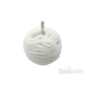 Flexipads White Microfine Scruff Ball 75 mm