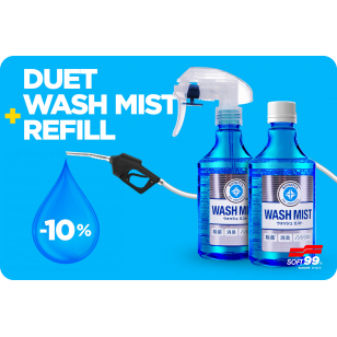 Akčný set -10 % - Soft99 Wash Mist 300 ml + Wash Mist Refill 300 ml