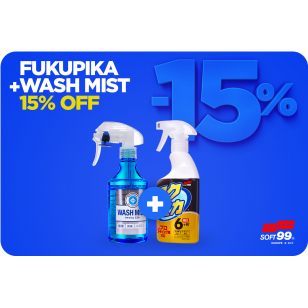 Akčný set -15 % - Soft99 Fukupika Spray Strong Type 400 ml + Soft99 Wash Mist 300 ml