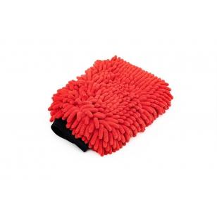 The Rag Company Knobby Wash Mitt Red