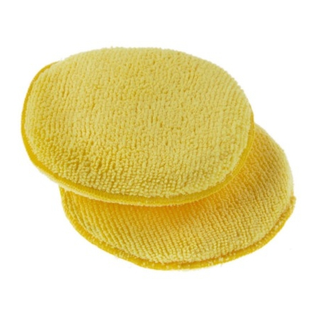 Monster Shine Yellow Round Microfibre Applicator